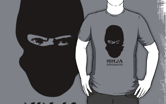 Ninja Graduate Graphic T-Shirt