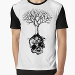 Skull and Tree Graphic T-Shirt