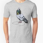 Techno Pigeon Graphic T-Shirt