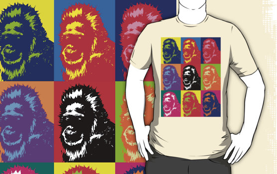 Bigfoot Portrait Graphic T-Shirt