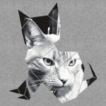 Black & White Cat Photo Graphic T-Shirt