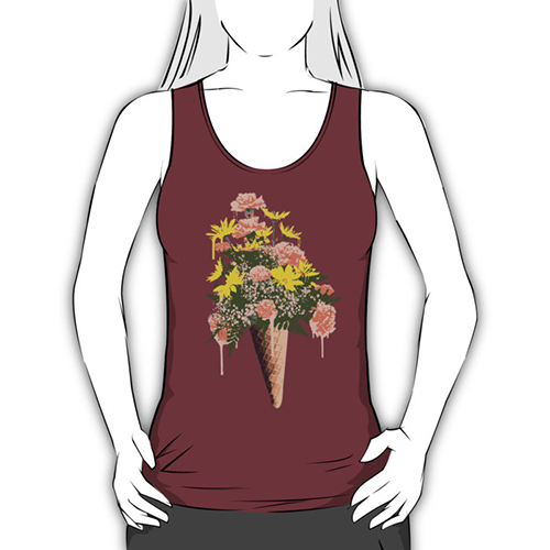 Celebrate summer with flowers ice cream and custom for How to make a prototype shirt