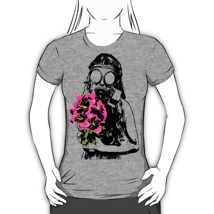 Beautifully Toxic graphic t-shirt heather gray womens