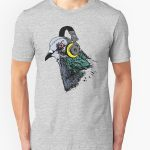 Techno Pigeon 2 Graphic T-Shirt