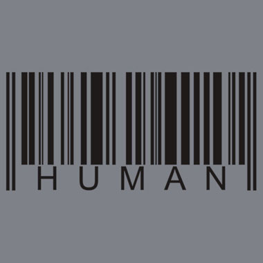 Human Barcode Graphic T Shirt Nocturnal Prototype