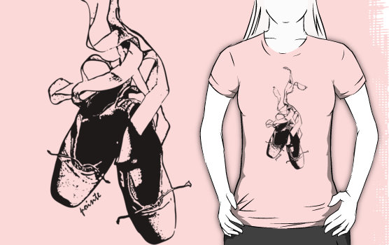 Pointe Ballet Graphic T-Shirt