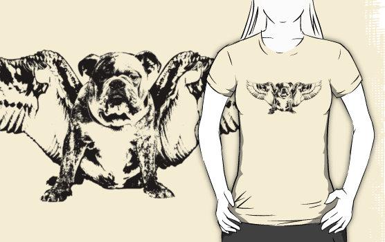 Angel Dog Graphic T-Shirt