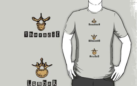 Vertebra Bones Graphic T-Shirt