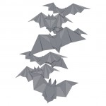 Bat origami graphic t-shirt