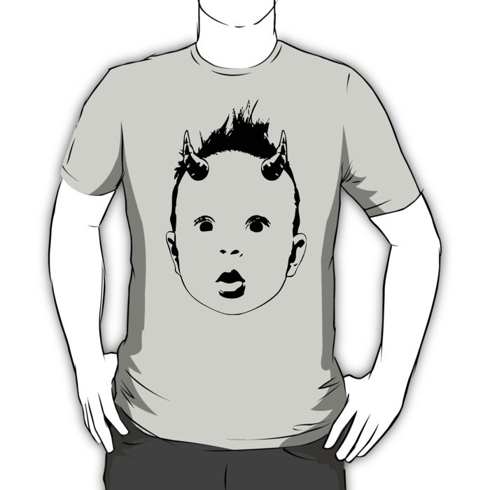 Born Bad graphic t-shirt design