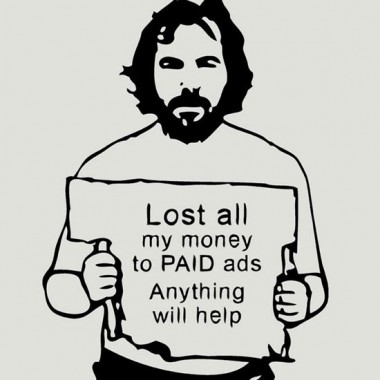 Phil lost money to paid ads...content marketing graphic t-shirt